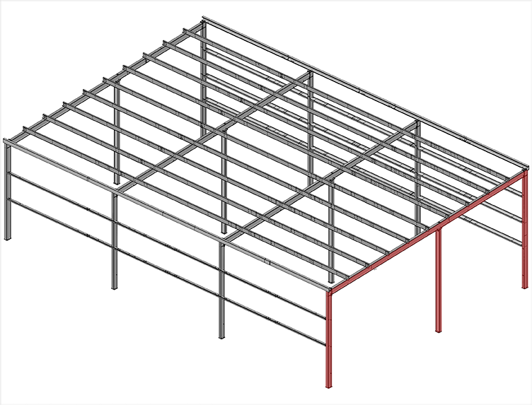 Single-Slope,-Straight-Column-Frames-Multispan